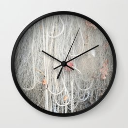 Caught Leaves Wall Clock
