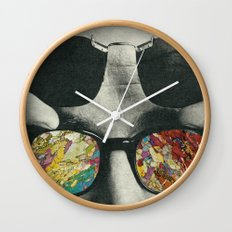 Space cakes Wall Clock