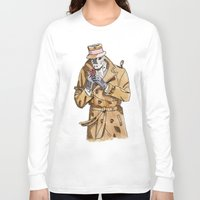rorschach Long Sleeve T-shirts featuring Rorschach by Of Newts and Nerds