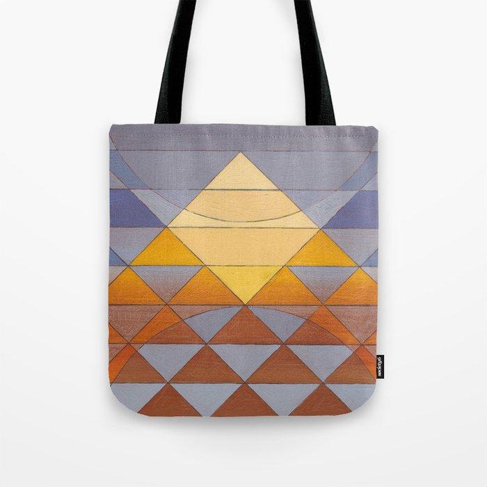 Pyramid Sun Mauve Purple Tote Bag