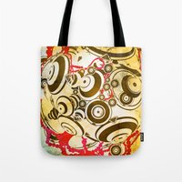 dragon ball Tote Bags featuring ball by echo3005