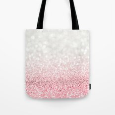 Pink Ombre Glitter Tote Bag