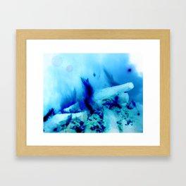 Ice Fire Framed Art Print