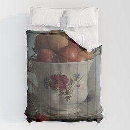 Still life with fresh cherries Comforters