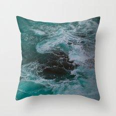 Big Sur Waves Throw Pillow