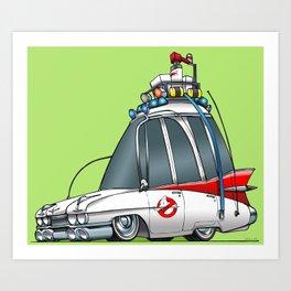 Ghostbusters Ecto 1 Art Print