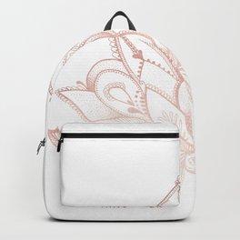 Boho Lotus Rose Gold Backpack