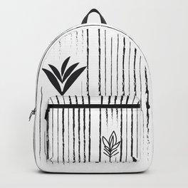 Black & White Siam Tulips Backpack