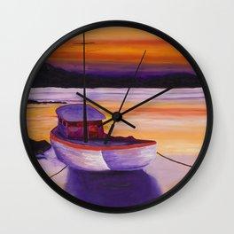 Purple Sunrise Wall Clock