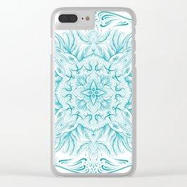 Cold  mandala Clear iPhone Case