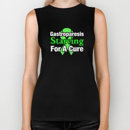 Gastroparesis Awareness Starving For A Cure Ribbon Biker Tank