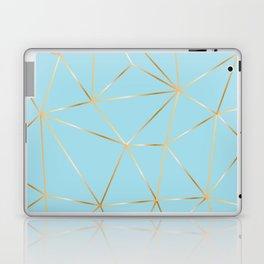 blue pastel and gold polygon Laptop & iPad Skin
