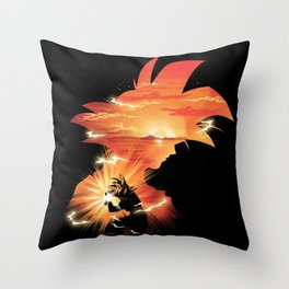 Goku Sndown head Throw Pillow