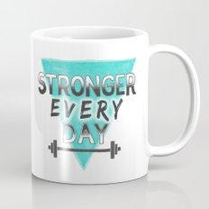 Stronger Every Day (barbell) Mug