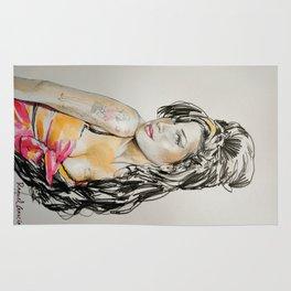 Winehouse Portrait Rug