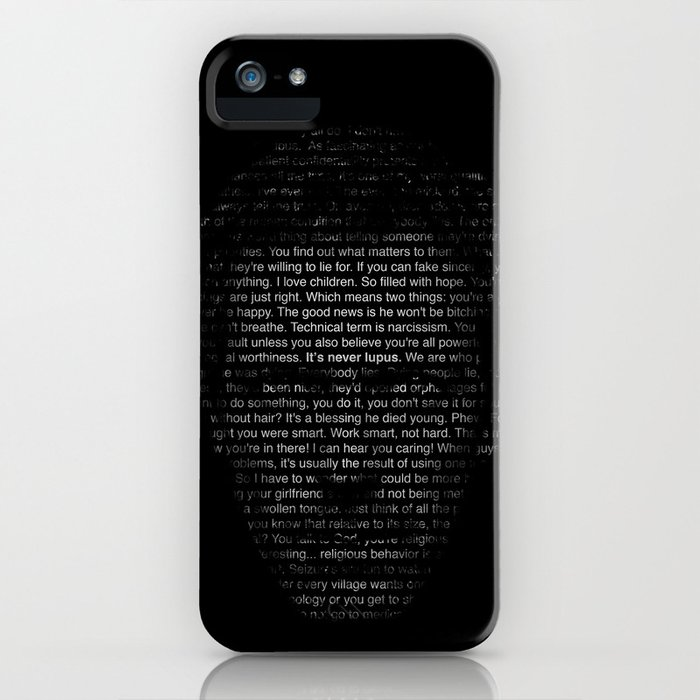House MD Quotes Print (It's never lupus) iPhone Case