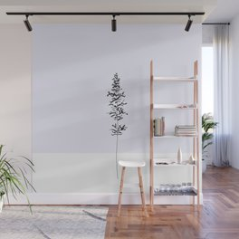 Minimalistic Sprig of Lavender  Wall Mural