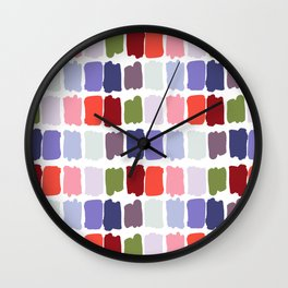Artistic colorful watercolor paint brushstrokes palette Wall Clock