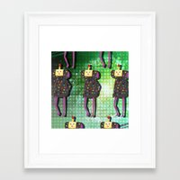 katamari Framed Art Prints featuring Katamari Cousins - Dipp by cakeisforrobots