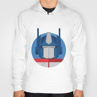optimus prime Hoodies featuring Optimus Prime Dots.  by Federico Giuliani
