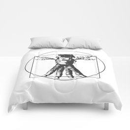 Vitruvian with spacer flair on white Comforters