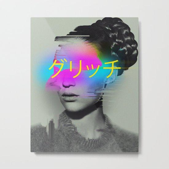 Glitch Metal Print
