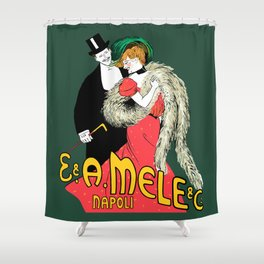 Mele Napoli Italian belle epoque ladies fashion Shower Curtain