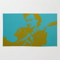 u2 Area & Throw Rugs featuring Bono - U2 by Tipsy Monkey