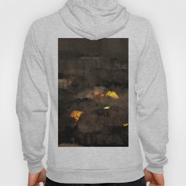 Abstract landscape nature texture lava fire geology digital illustration Hoody
