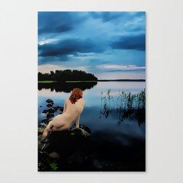 Ania at the Lake Canvas Print