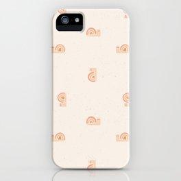 Rainbow snail iPhone Case