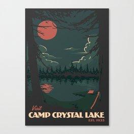 Visit Camp Crystal Lake Canvas Print