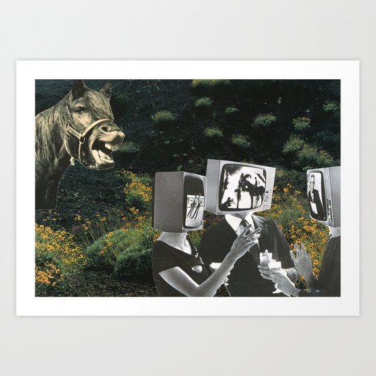 Animals Laugh At People Too Art Print