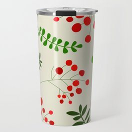Floral retro Christmas Pattern | Scandinavian Travel Mug