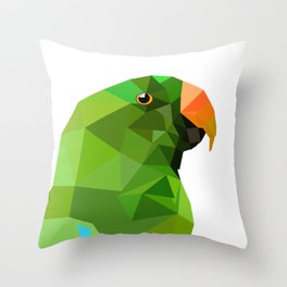 Eclectus parrot Geometric bird art Throw Pillow