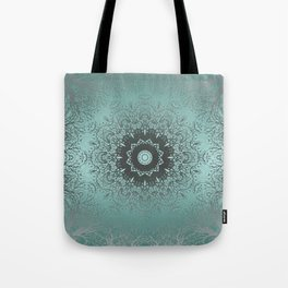 Turquoise ornament, kaleidoscope Tote Bag