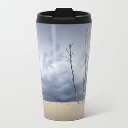 Wind Swept Clouds over the Dunes Travel Mug
