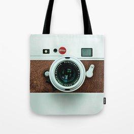 Retro vintage leather camera Tote Bag
