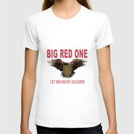 big red on 1 first infantry division hooded men woman redhead T-shirt