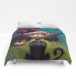 Zombie Cat Christmas Comforters