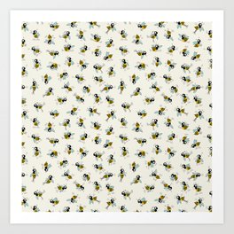 Dancing bee pyjama pattern Art Print