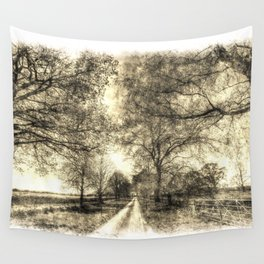 The Summer Farm Track Vintage Wall Tapestry