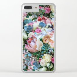 Romantic flowers II Clear iPhone Case