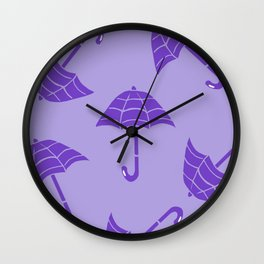 Rain or Shine Printmaking Art Wall Clock