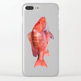 Red Snapper Clear iPhone Case