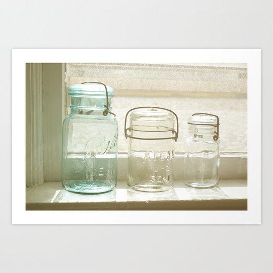 Jars of the Past Art Print