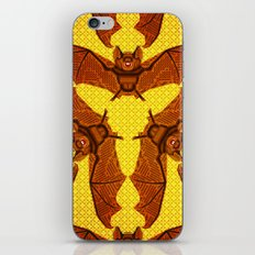 Geometric Bat Pattern - Golden version iPhone & iPod Skin