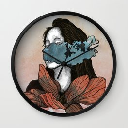 French Girl Wall Clock