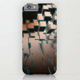 Neon Extrusion I - Cyberpunk Abstract Design iPhone Case