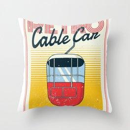 Cableway Retro Throw Pillow